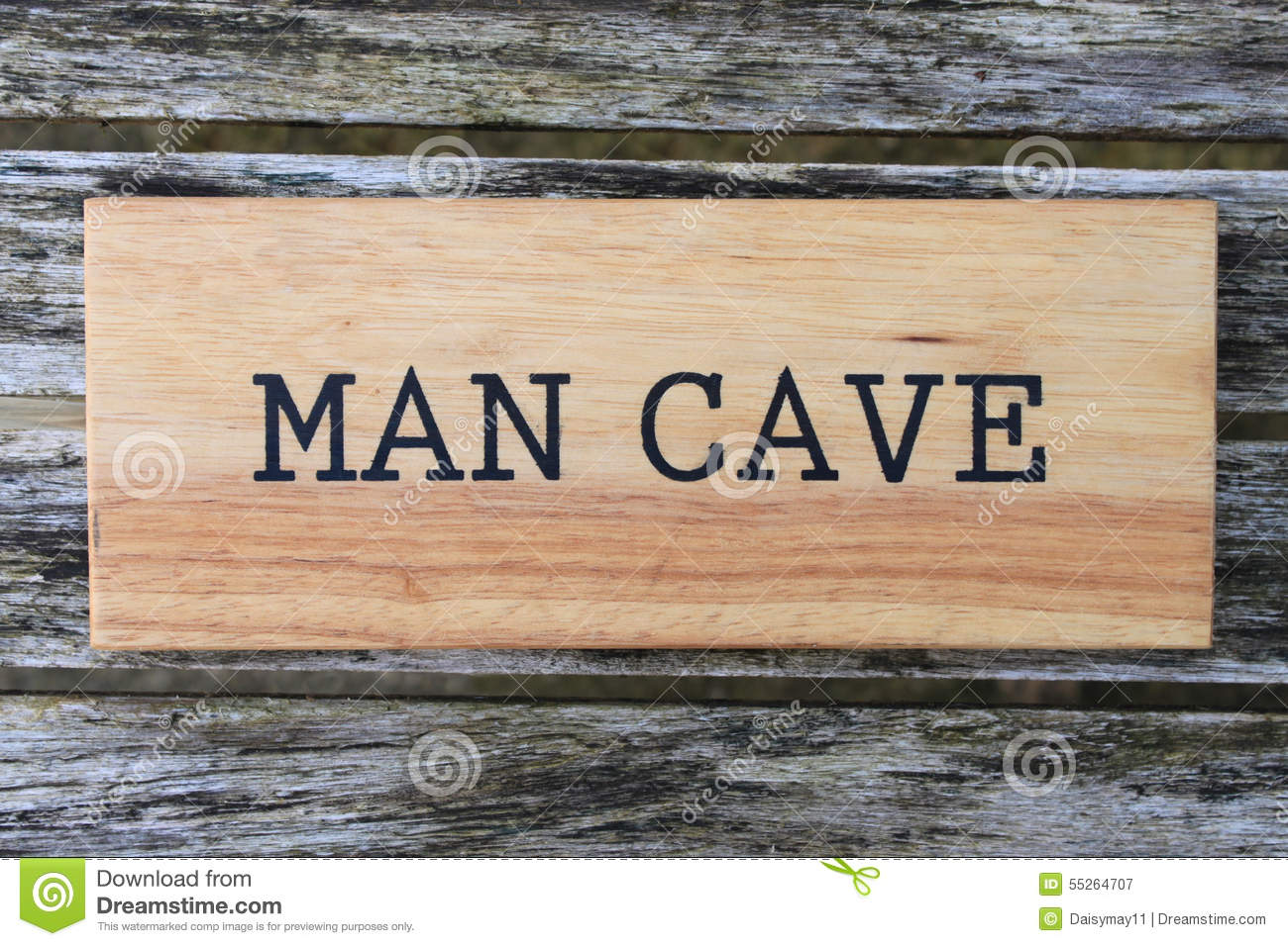 Man Cave Room Sign : Man cave sign stock photo image