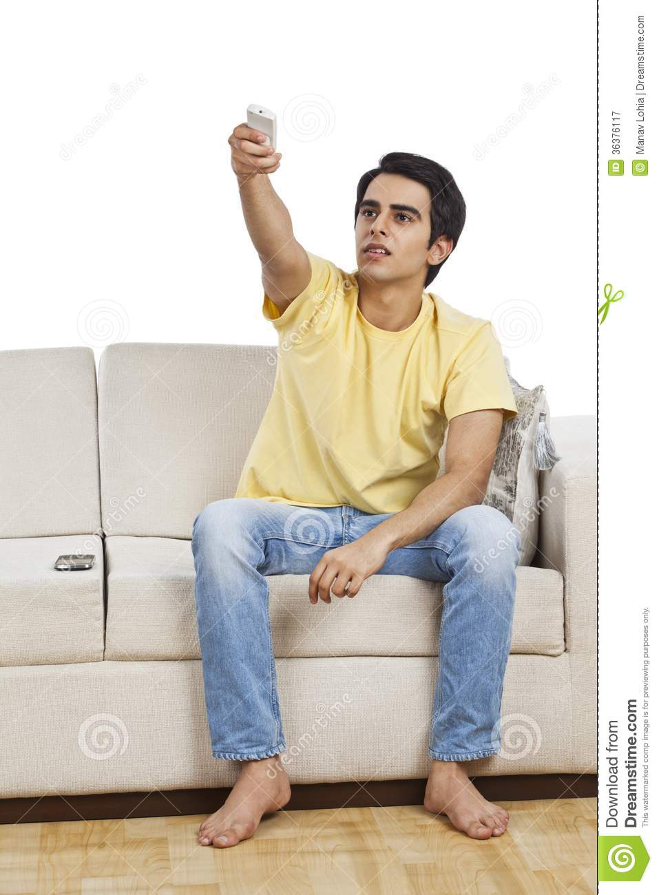 Man Changing Channels Royalty Free Stock Photography ...