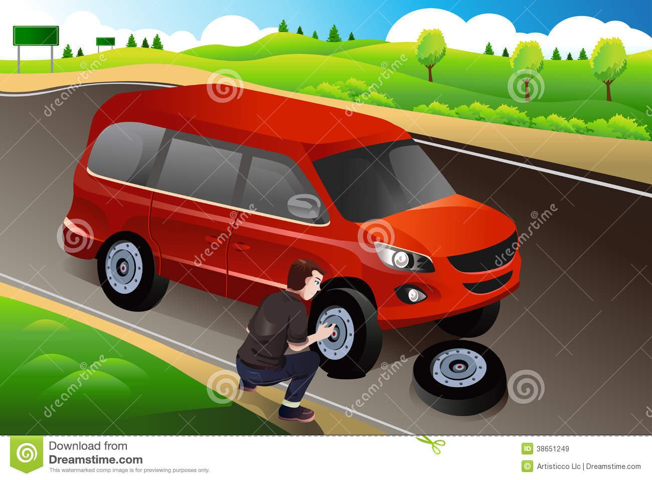 man changing flat tire royalty free stock images image