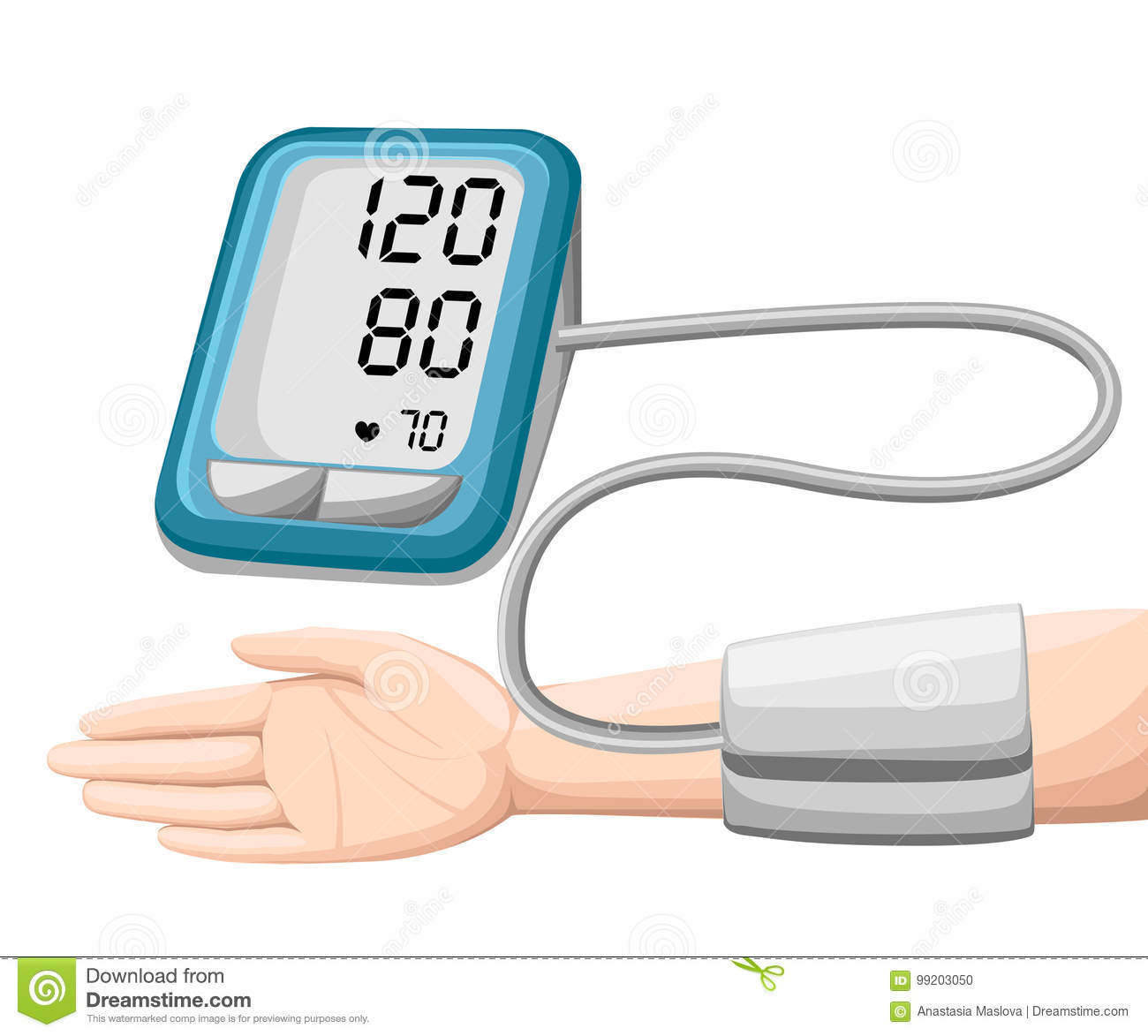Man checking arterial blood pressure. Digital device tonometer. Medical equipment. Diagnose hypertension, heart. Measuring, monito