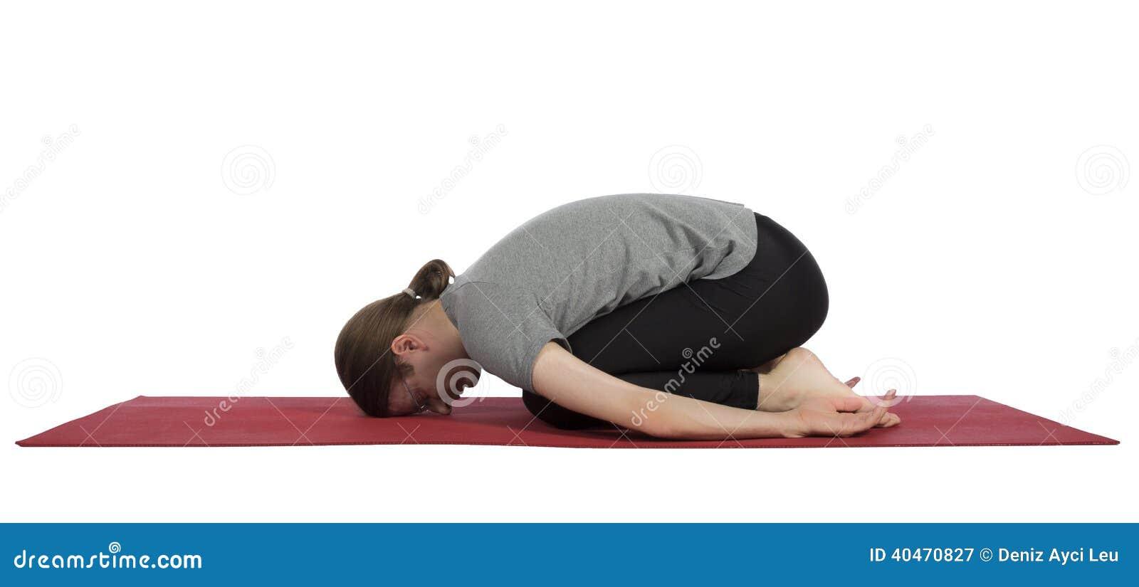 Man Child Pose Yoga