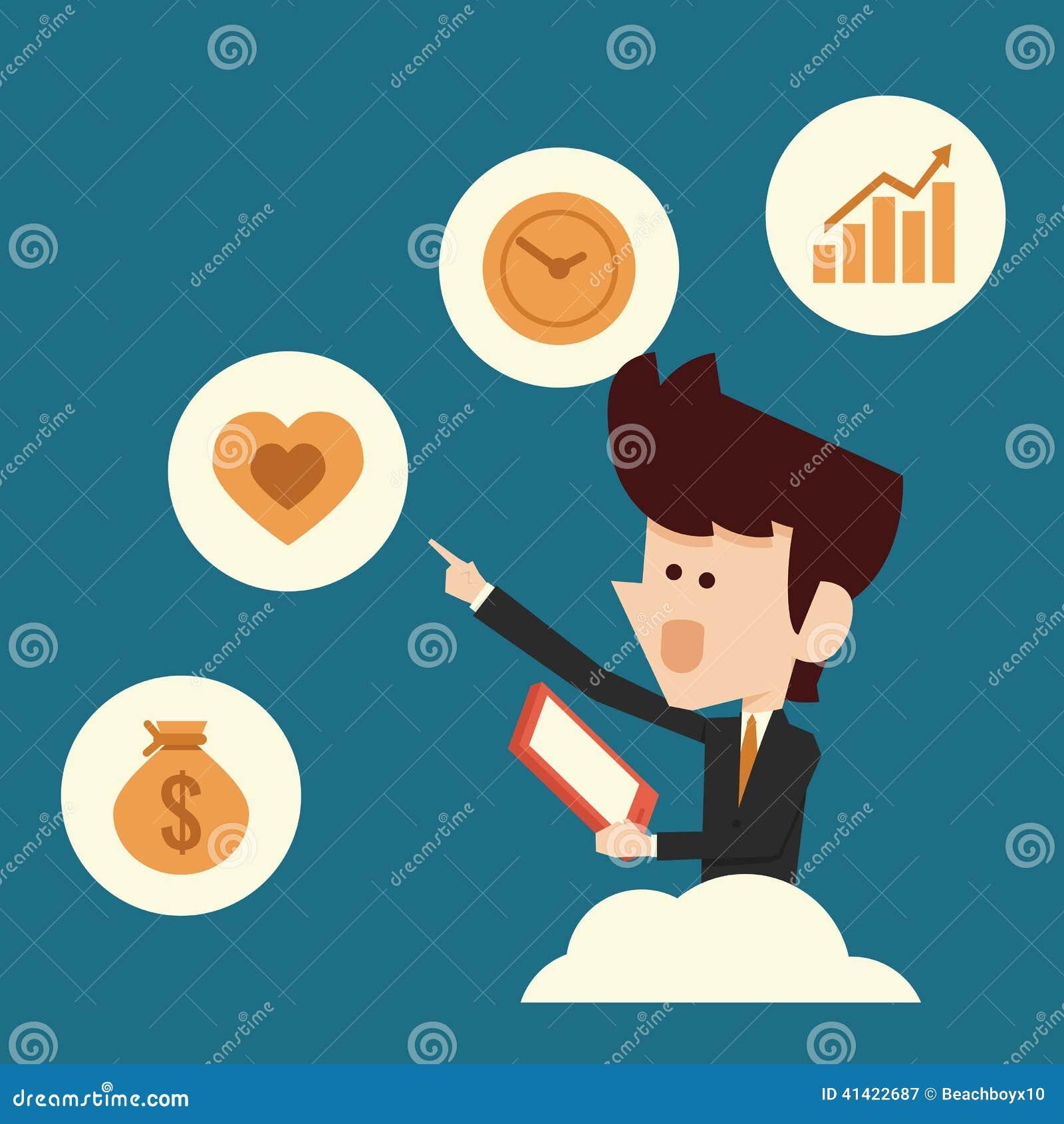 Man Choosing Icon Stock Vector