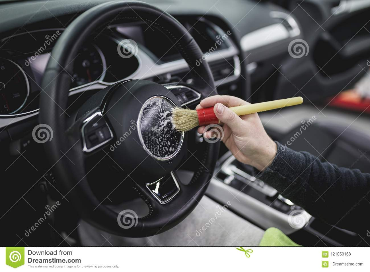 car cleaning and polishing stock photo. image of male - 121059168