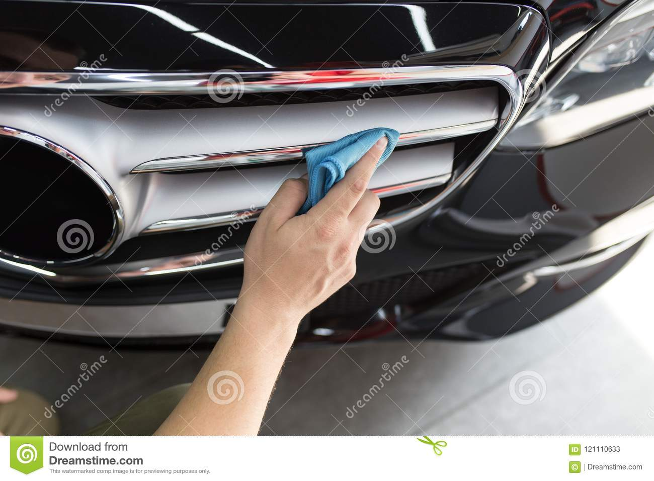 car cleaning and polishing stock image. image of dirt - 121110633