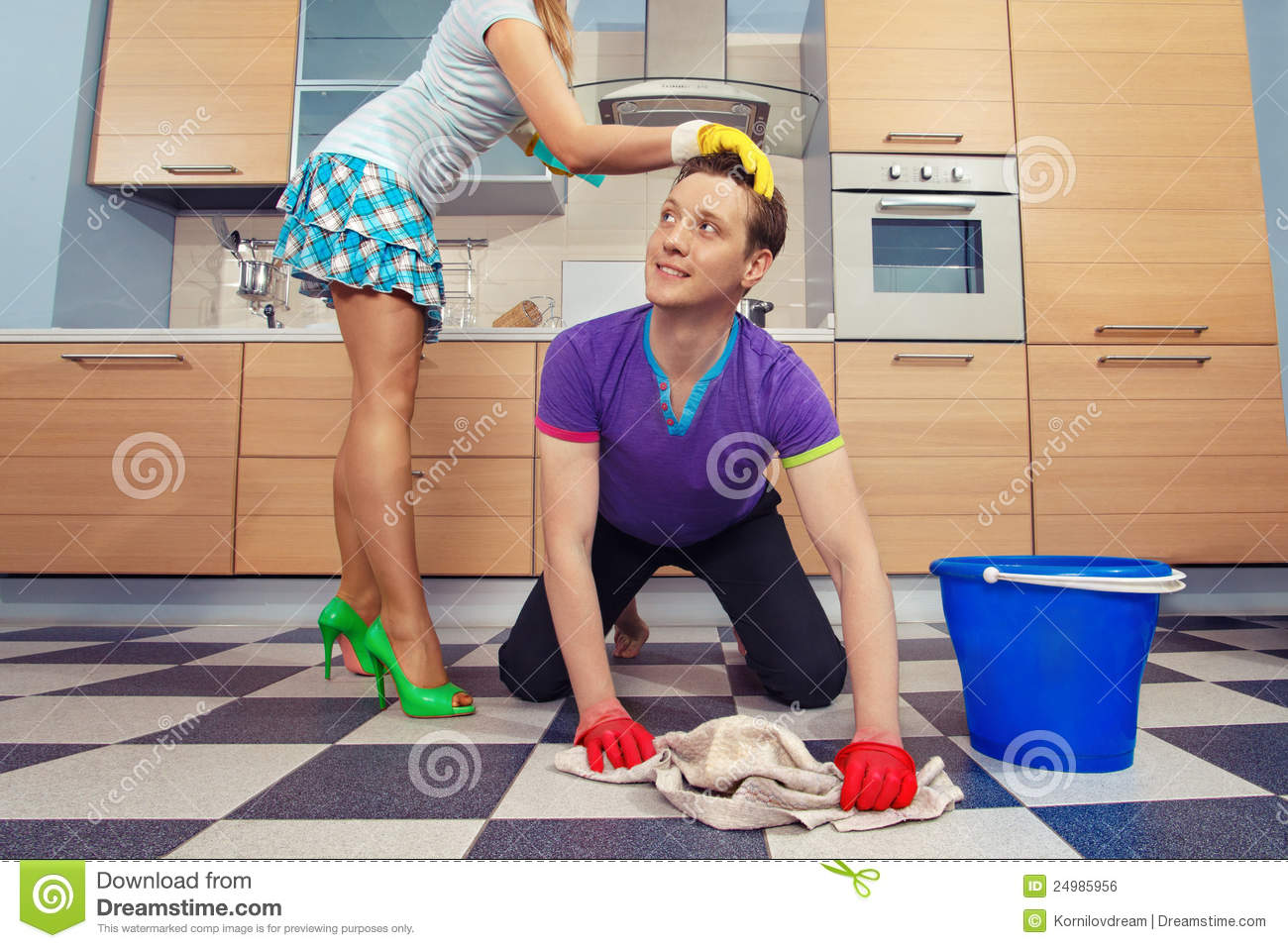 Man Cleaning Floor Royalty Free Stock Image Image 24985956