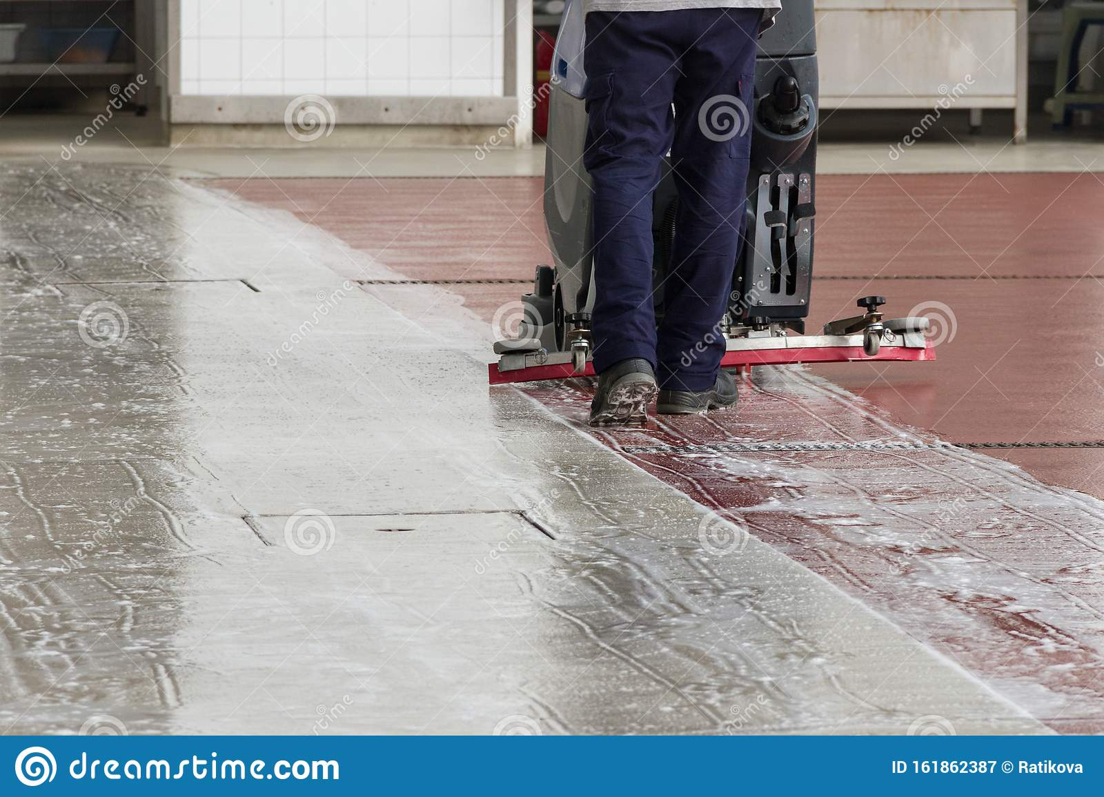 Man Cleaning Granite Floor Stock Image Image Of Housework 161862387