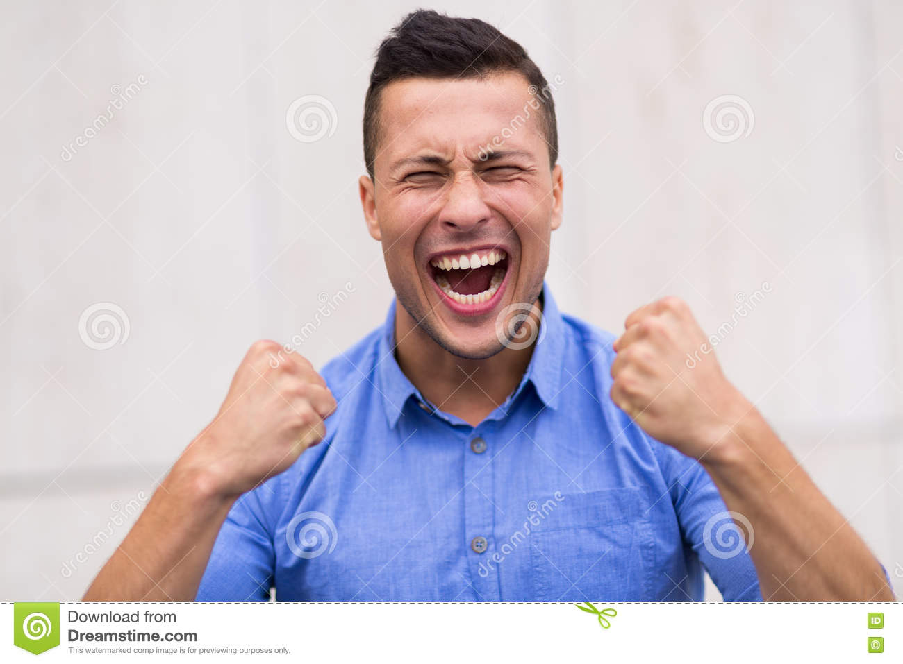 Girl Clenching Fists Stock Photo Image Of Mouth