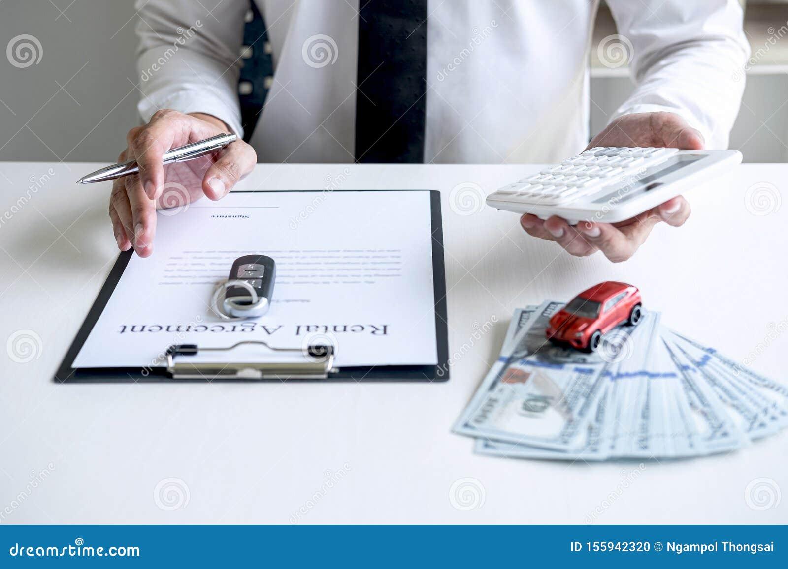 Man Client Calculating Insurance Premium For Decide ...