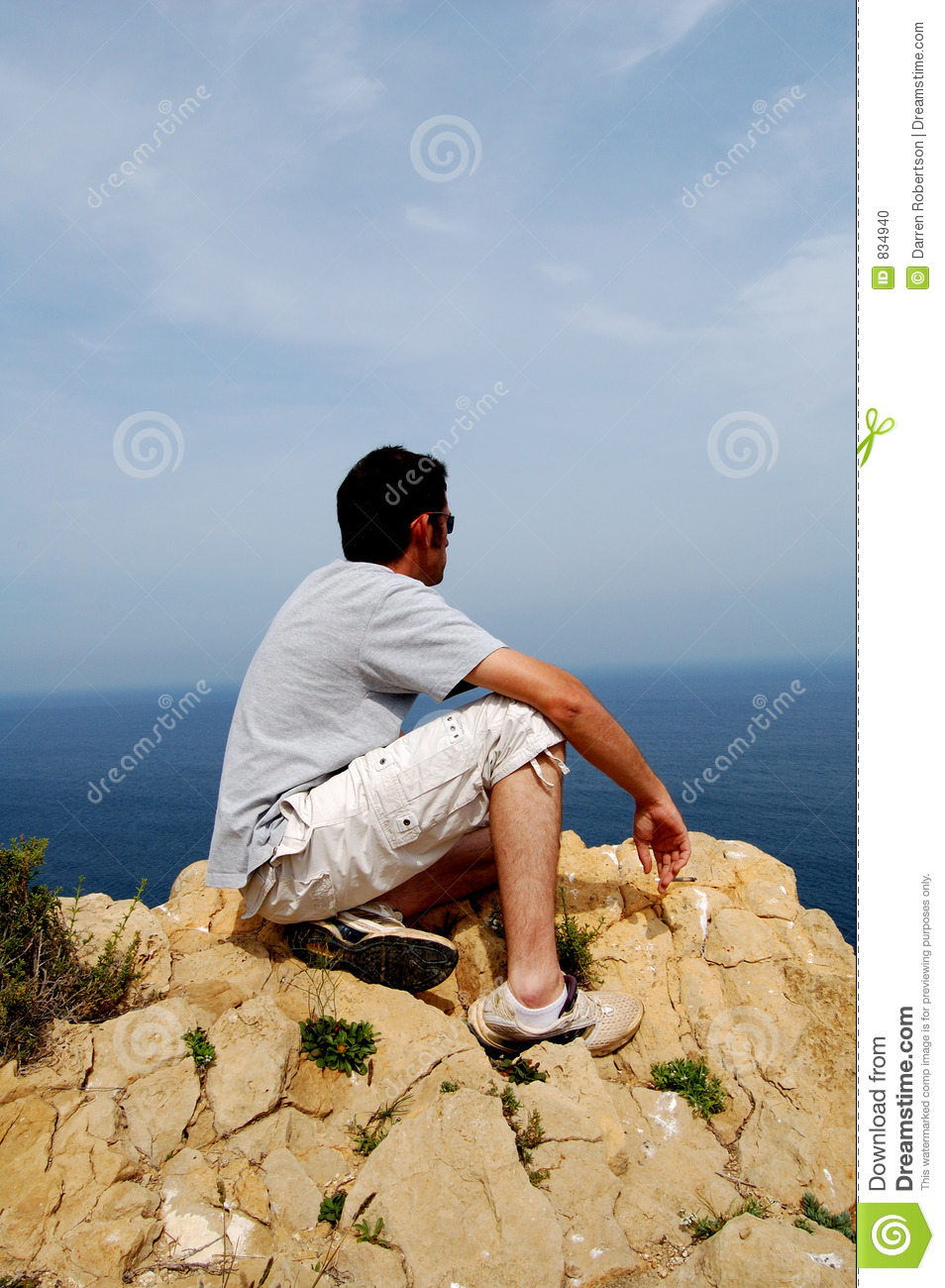 man on cliff top