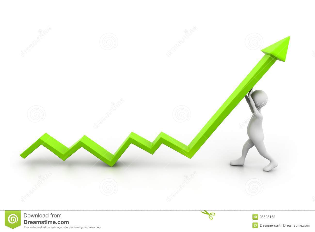 Man Climb Growth Arrow Stock Photos - Image: 35695163