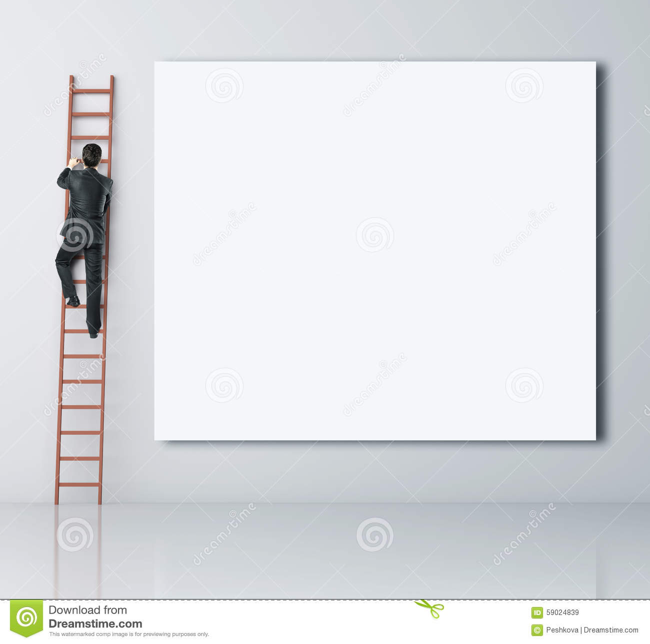 Download Man climbing stock image. Image of blank, promotion, moving - 59024839