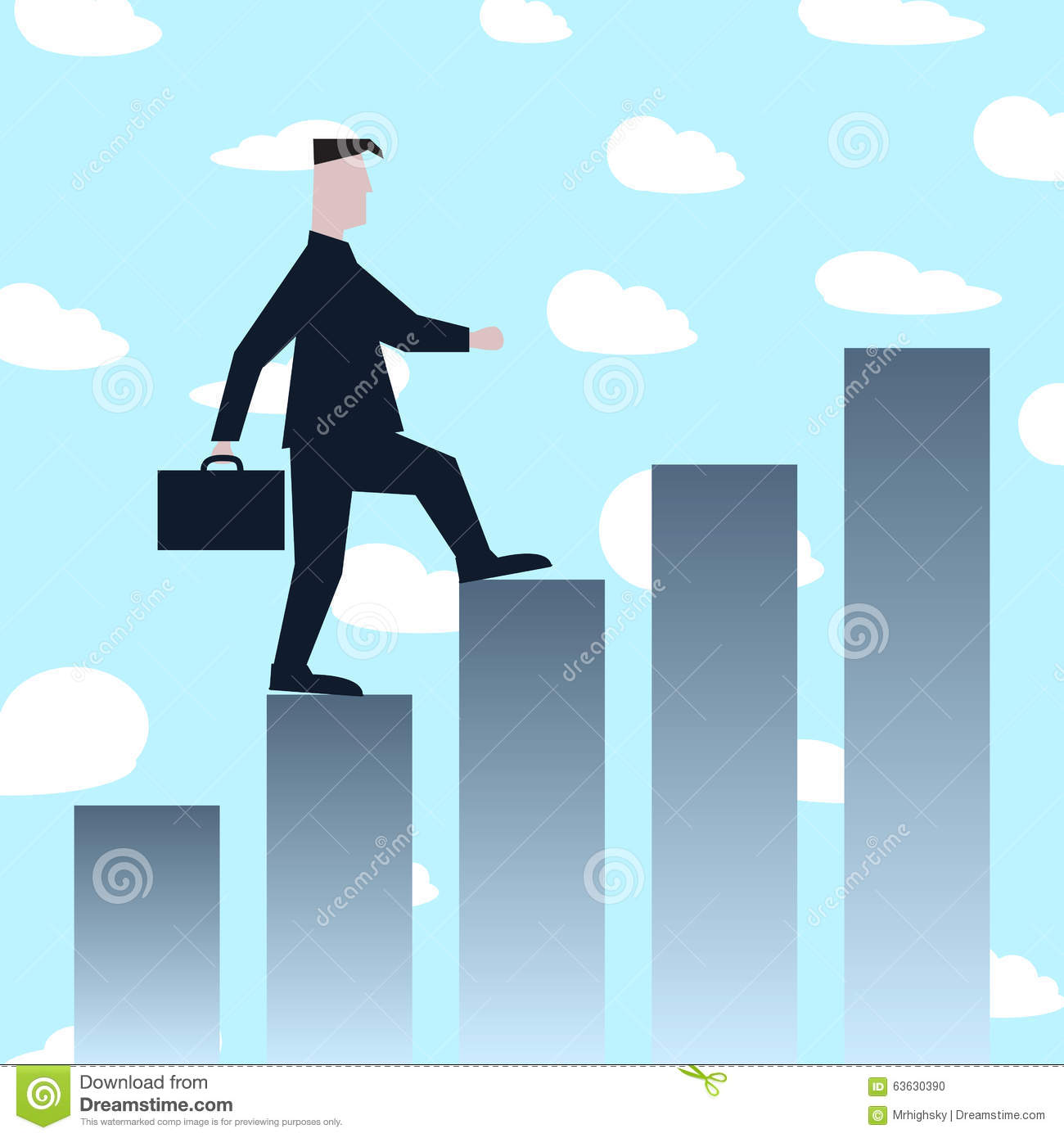 Man Climbing Success Stairs Stock Vector - Illustration of person ... for Climbing Stairs To Success  186ref