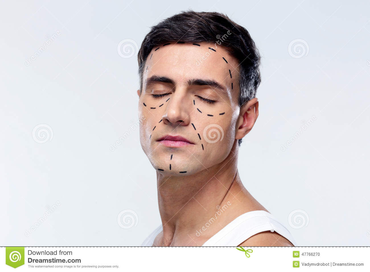 Man with closed eyes