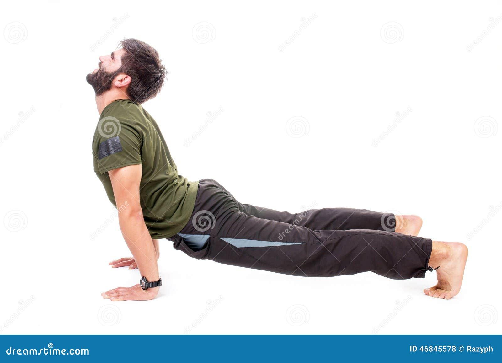 Man In Cobra Pose Stock Photo - Image: 46845578
