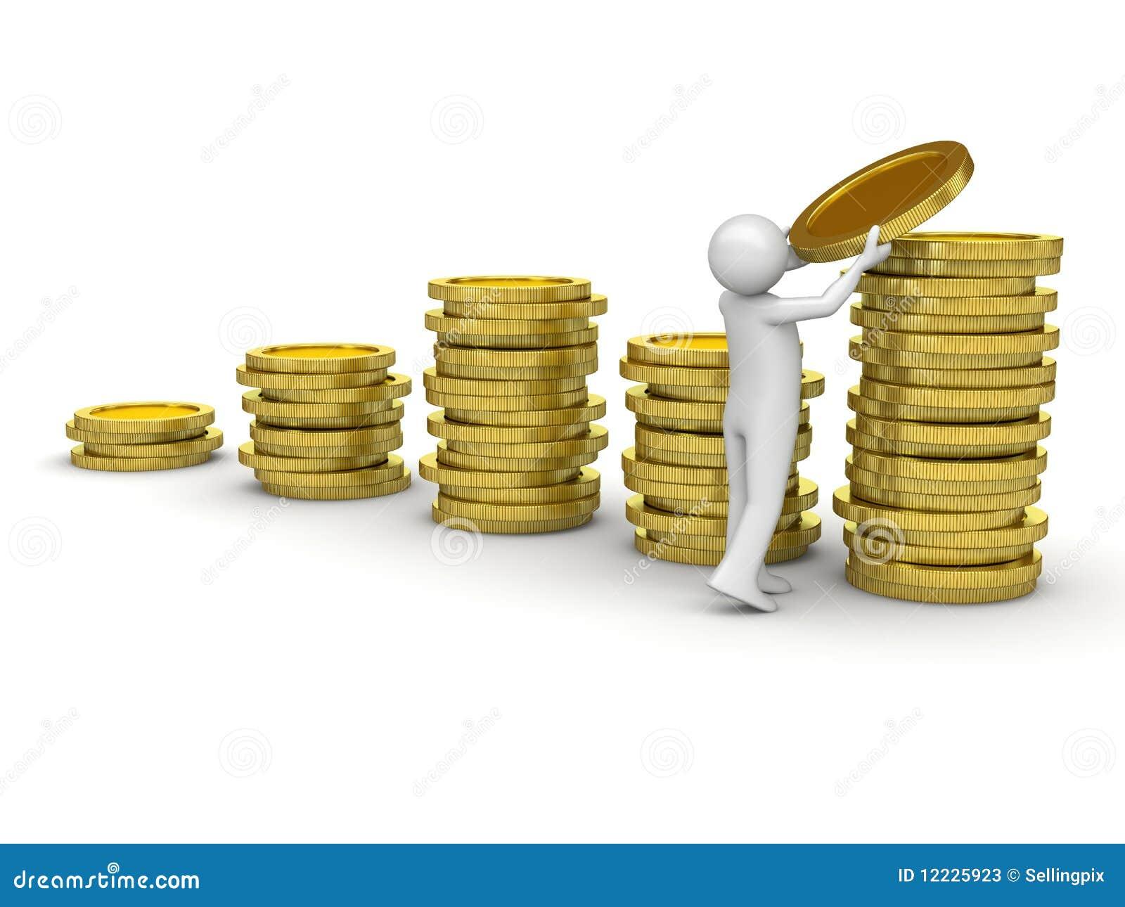 Man Collecting Money Stock Photos Image 12225923