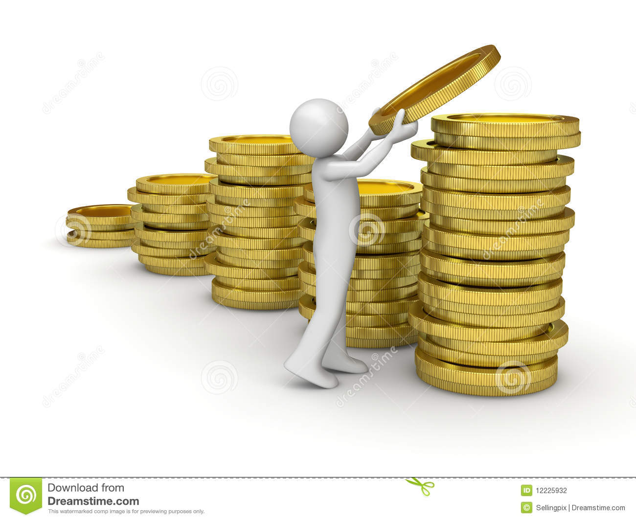 man collecting money stock photography   image 12225932