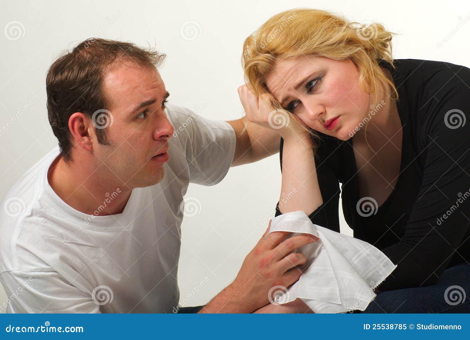 Stock photo comforting woman