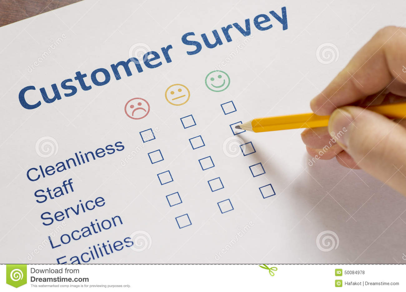 Man Completing A Customer Survey Photo Image 50084978 – Customer Survey