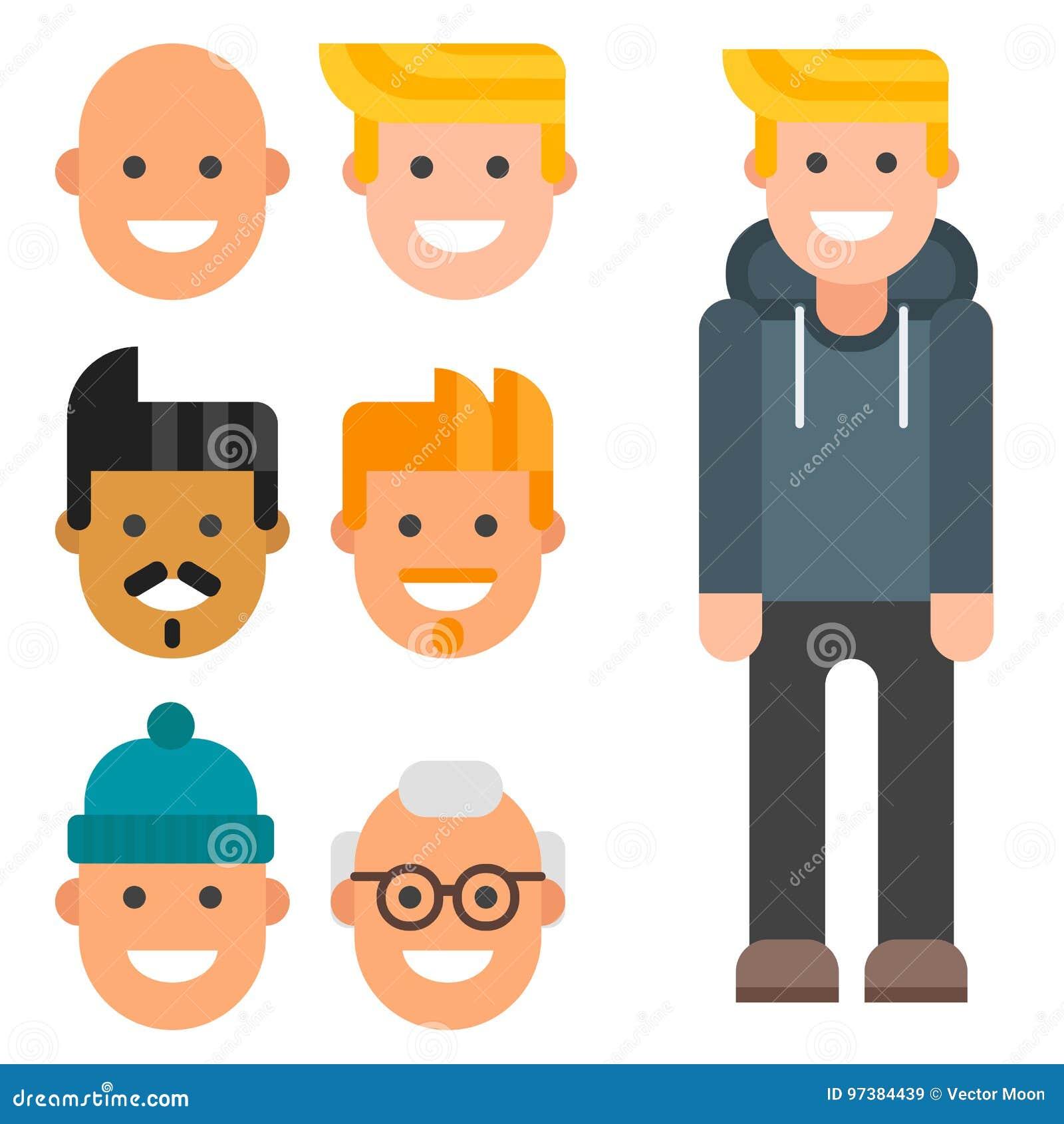 man constructor body avatar creator vector cartoon character rh dreamstime com vector creator online free vector creators update