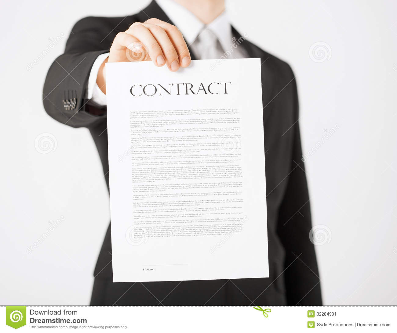 Man With Contract Stock Image