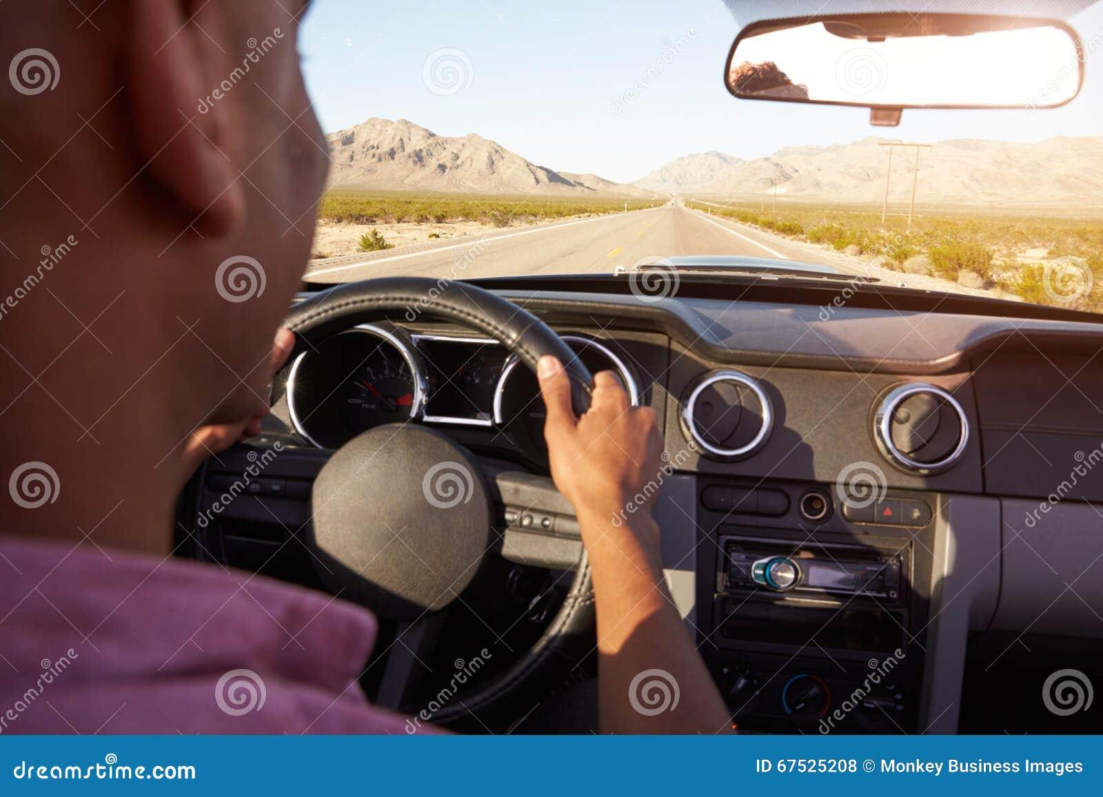 Car Driving Through Desert Description