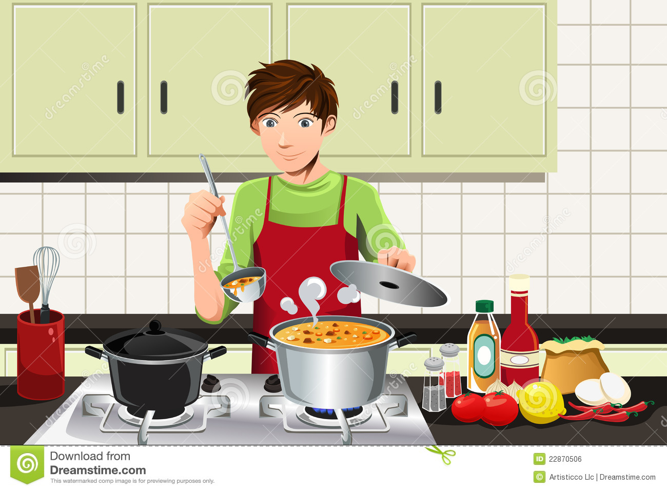 man cooking stock vector illustration of handsome  busy ketchup clipart png ketchup clipart png