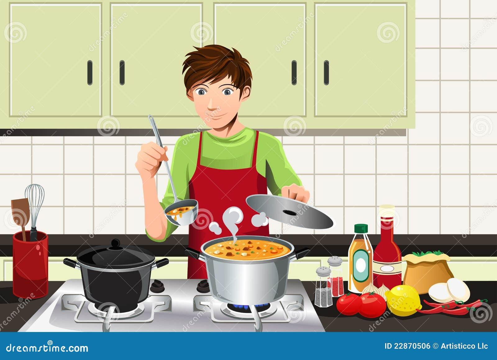 Man Cooking Royalty Free Stock Image Image 22870506