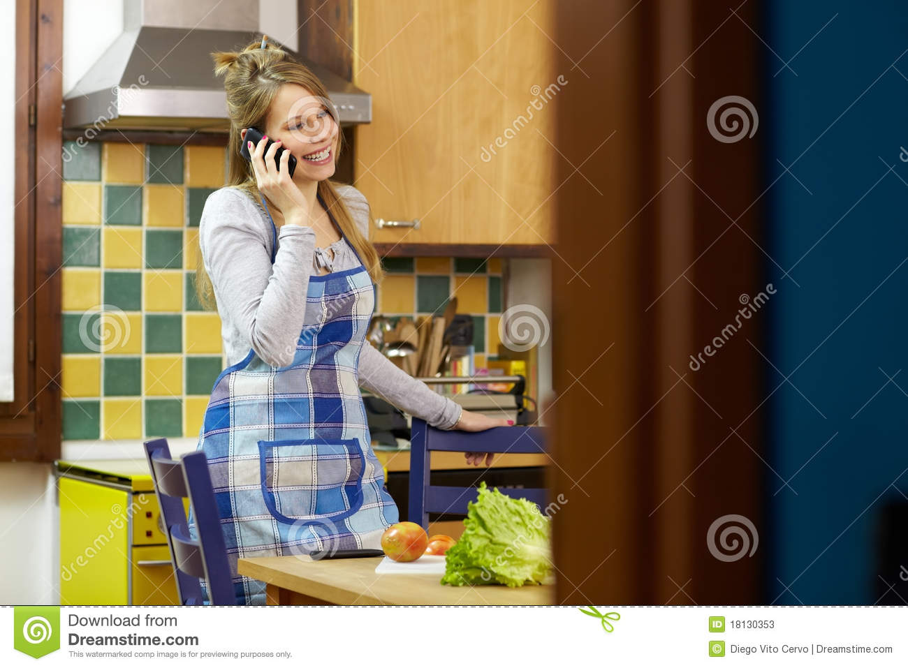 Man Cooking At Home Stock Photos - Image: 18130353
