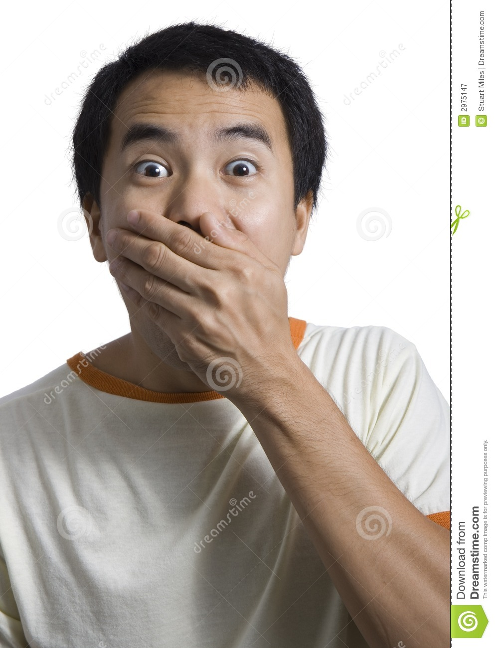 Man Covering Mouth 70