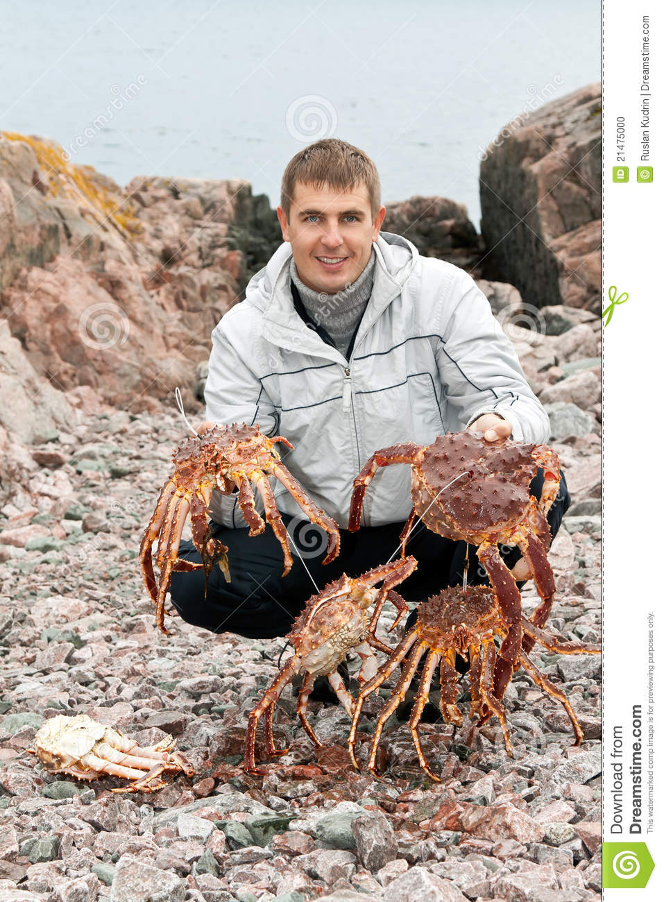 Man With Crabs In The ...
