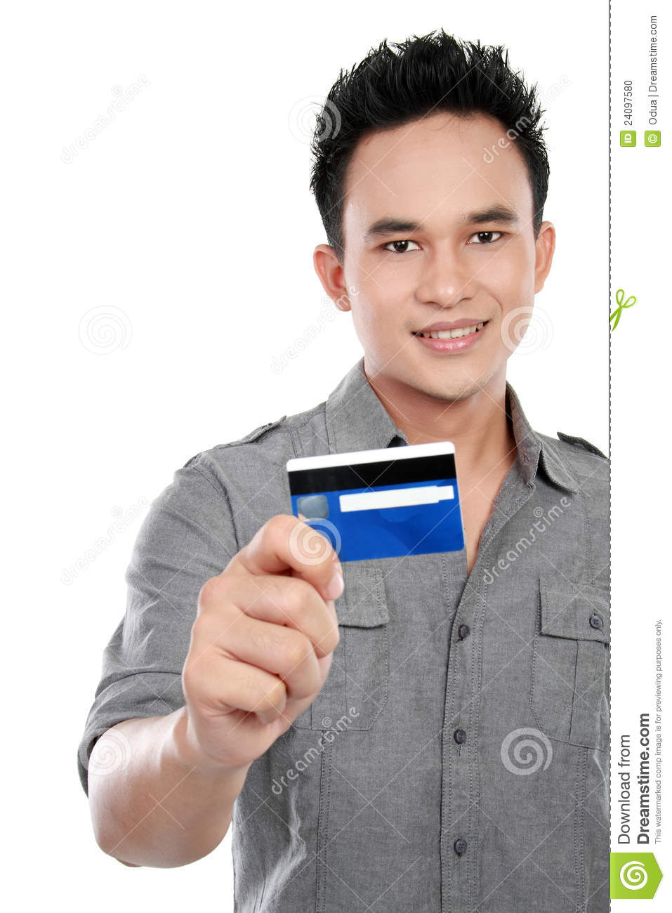 Man With Credit Card Stock Photo. Image Of Attractive