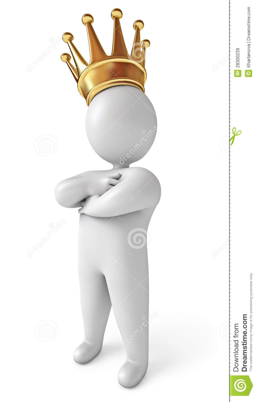 Man With Crown On His Head Stock Illustration Illustration Of Corona 28300239 Cute queen cheerful ruler crown on head cartoon vector. dreamstime com