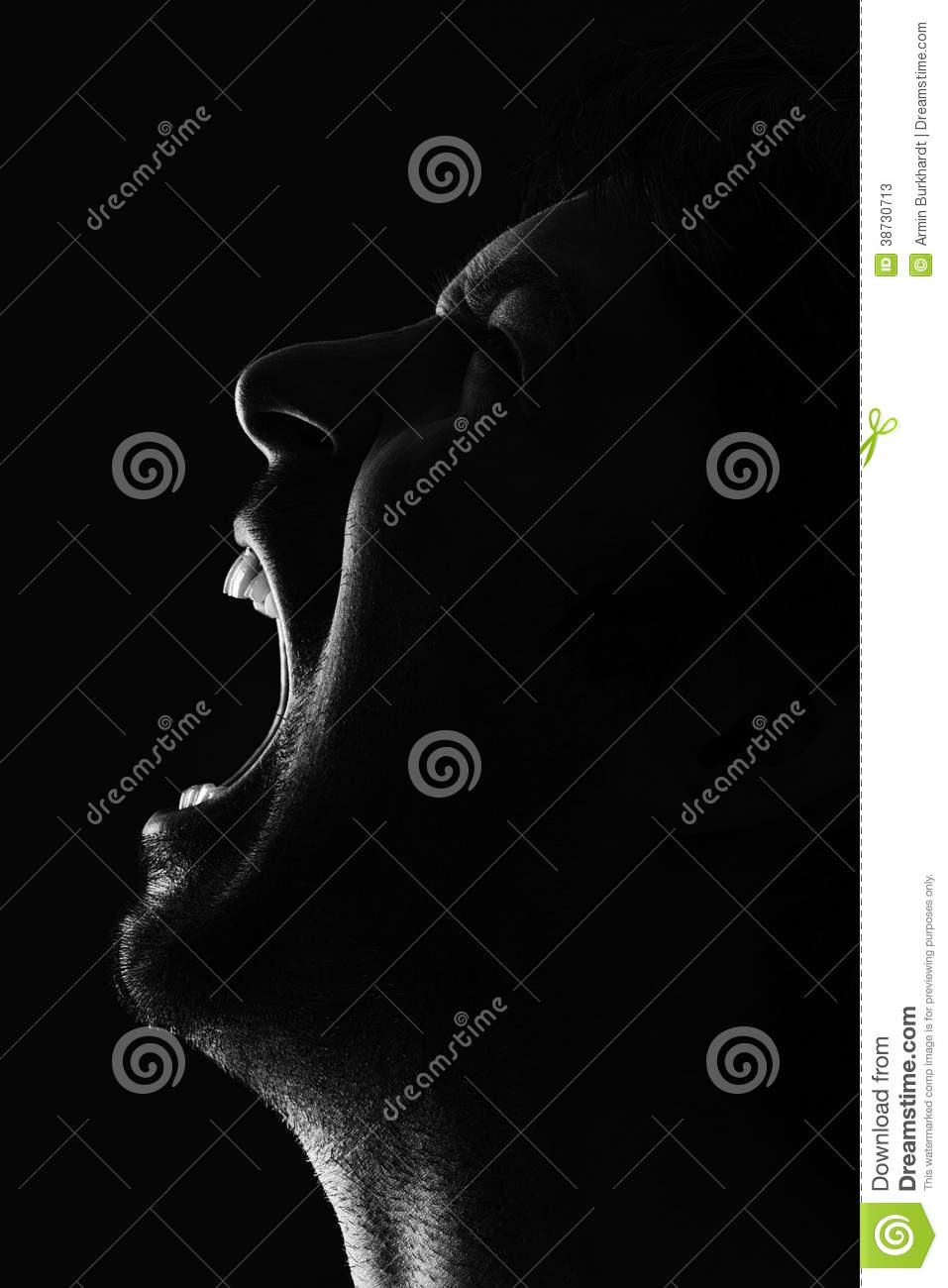 Man crying out