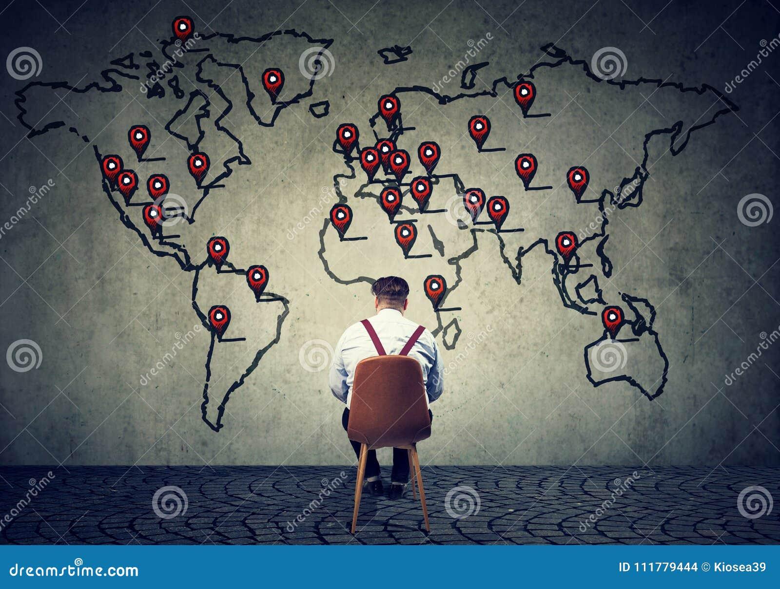 Man developing international business plan