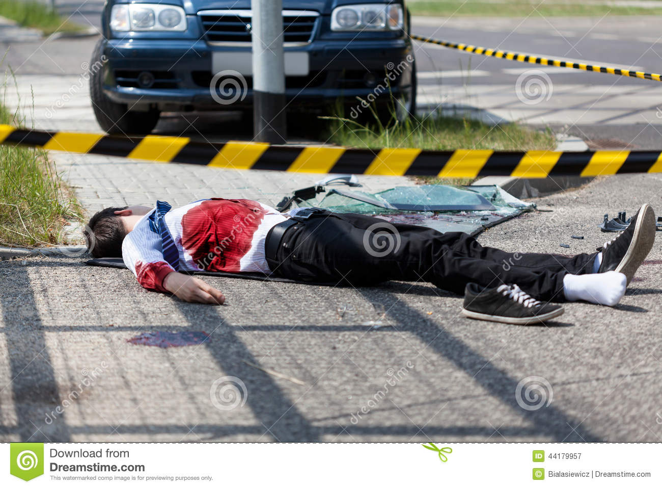 Man Died In A Car Accident Stock Image Image Of Blood 44179957