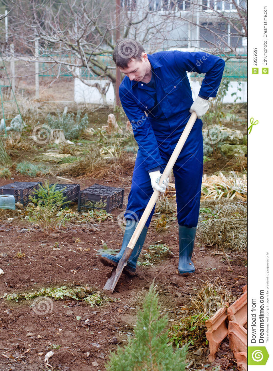 Image gallery man digging for Digging ground dream meaning