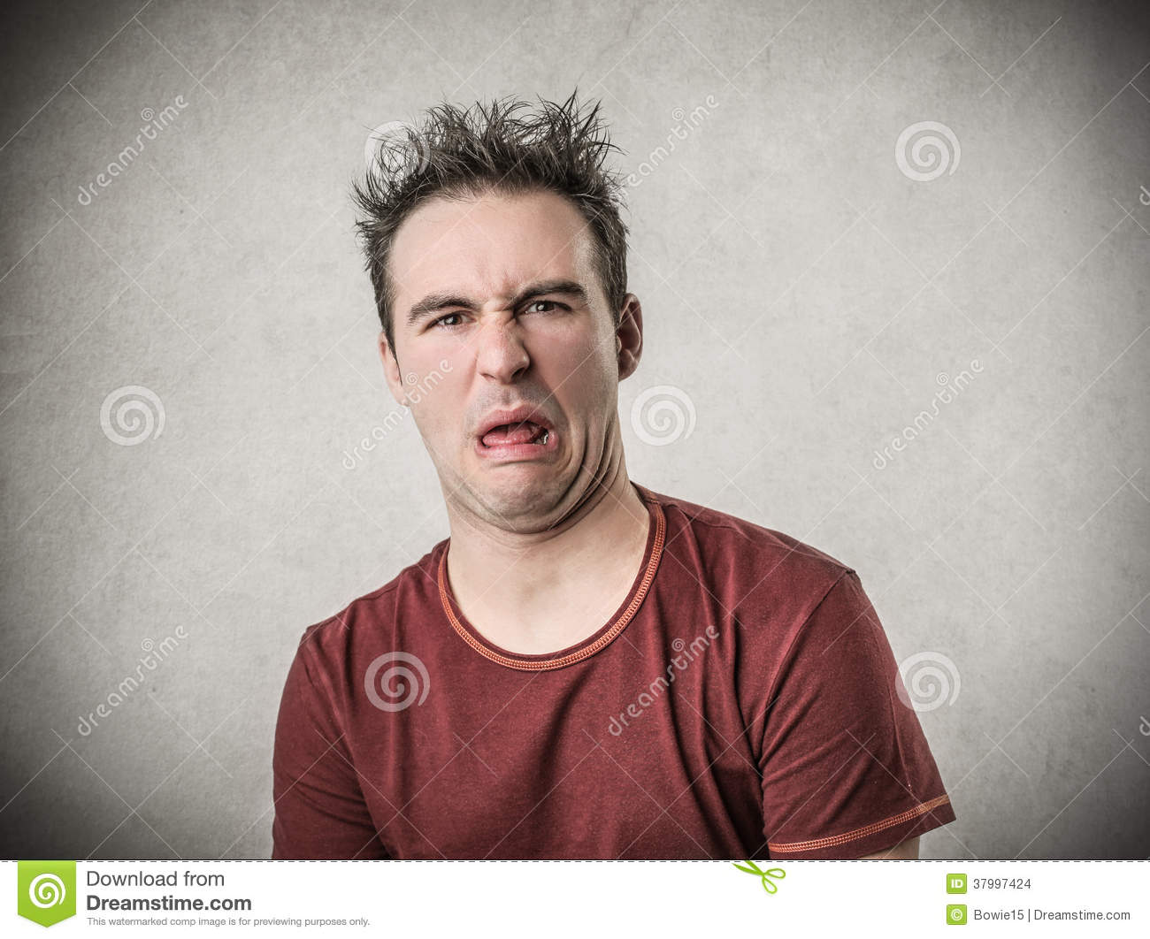 Man With A Disgusted Expression Stock Photo - Image: 37997424