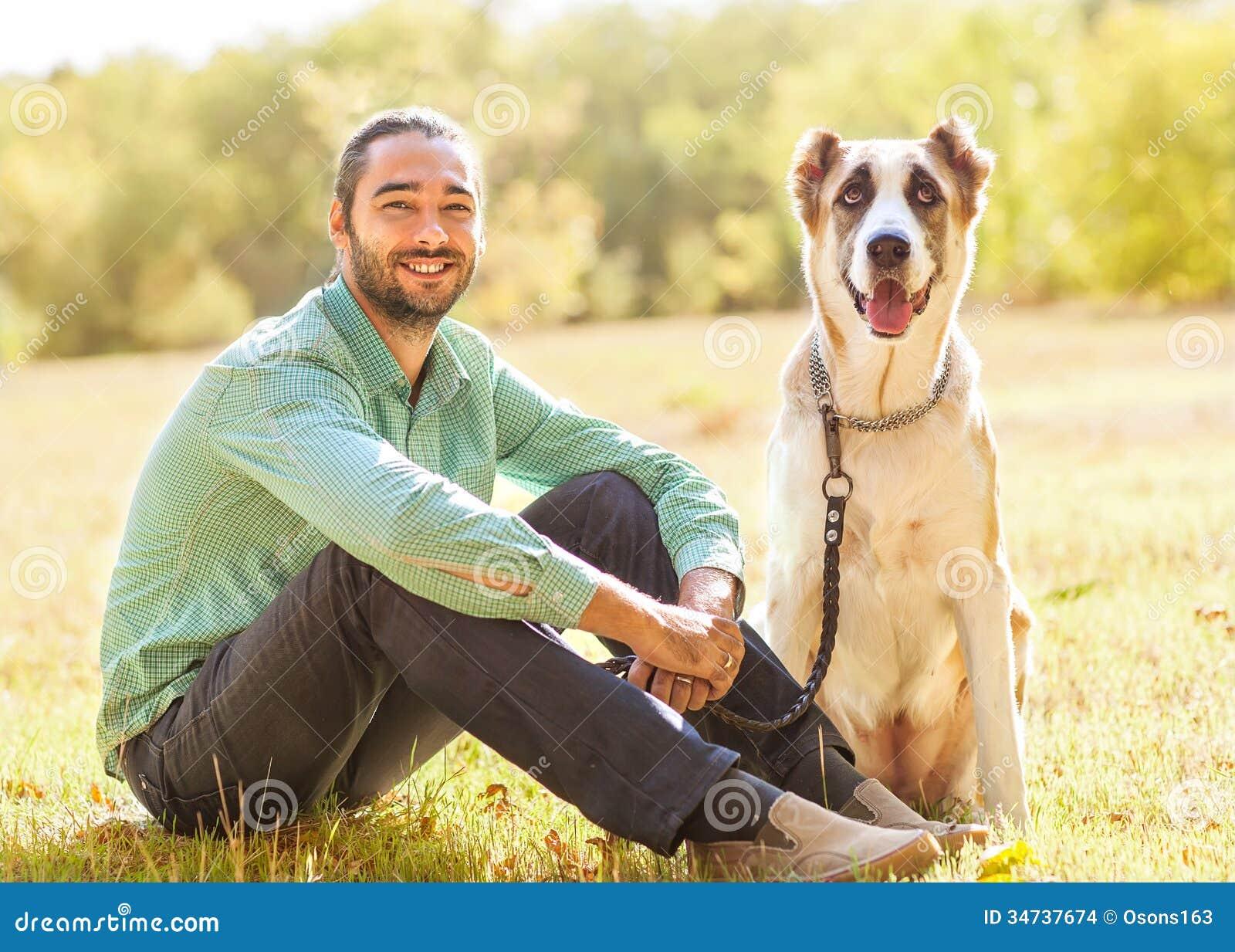 Cornudos man and dog