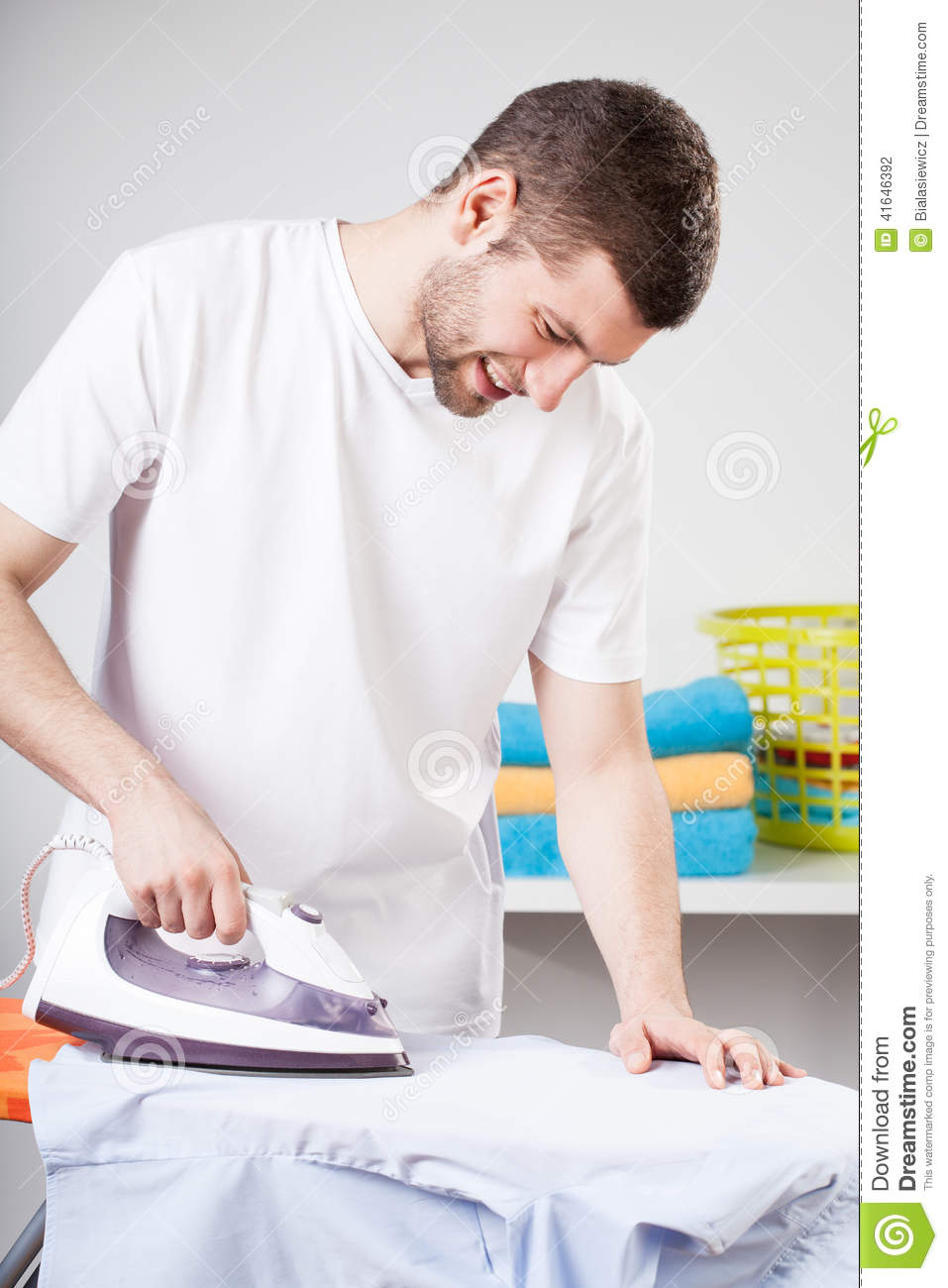 Man Doing Household Chores Stock Photo - Image: 41646392