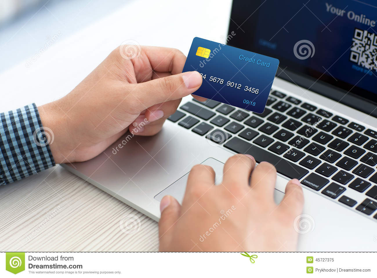 Online shopping credit