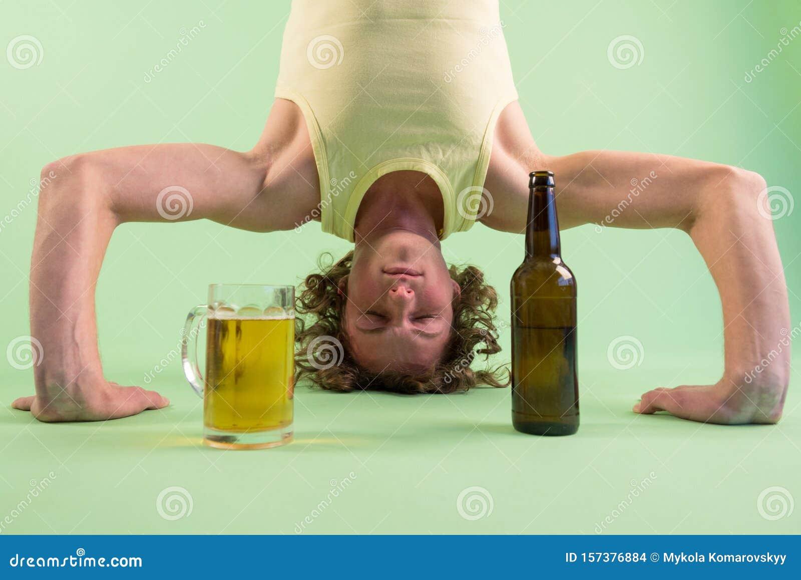 Man doing yoga stock photo. Image of acrobat, emotion   50