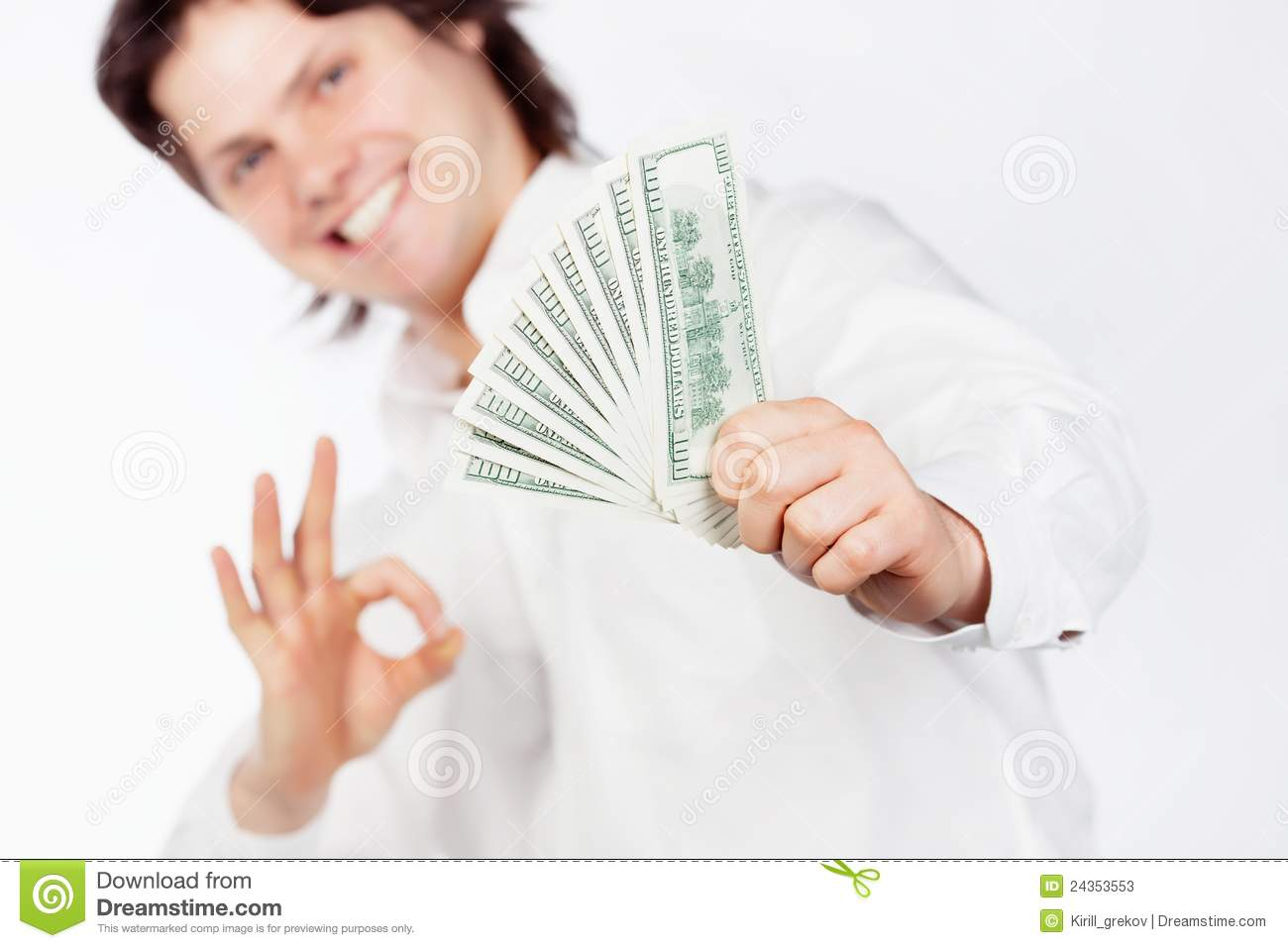 Man with dollars