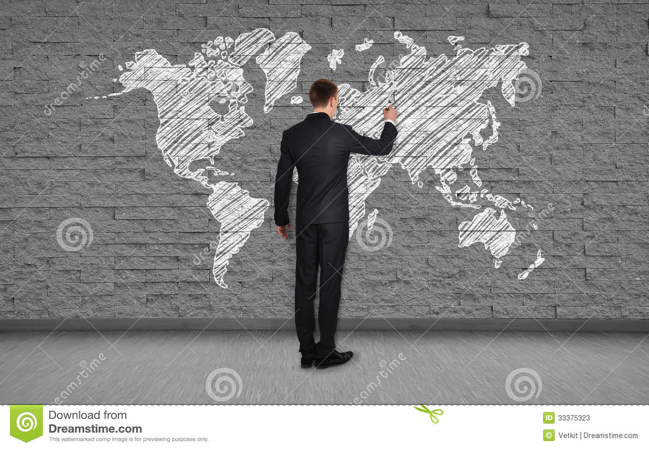 Man drawing map stock image image of asia floor drawing 33375323 man drawing map gumiabroncs Choice Image