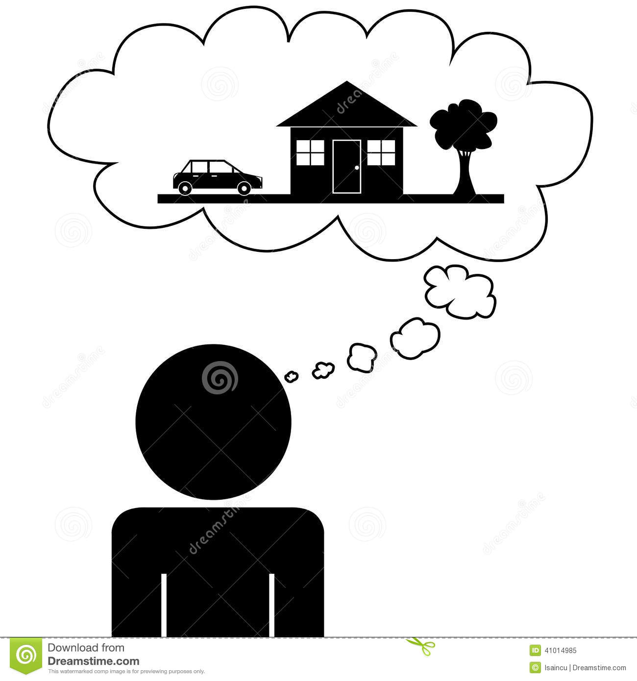 Man Dream House Stock Vector Illustration Of Home Estate