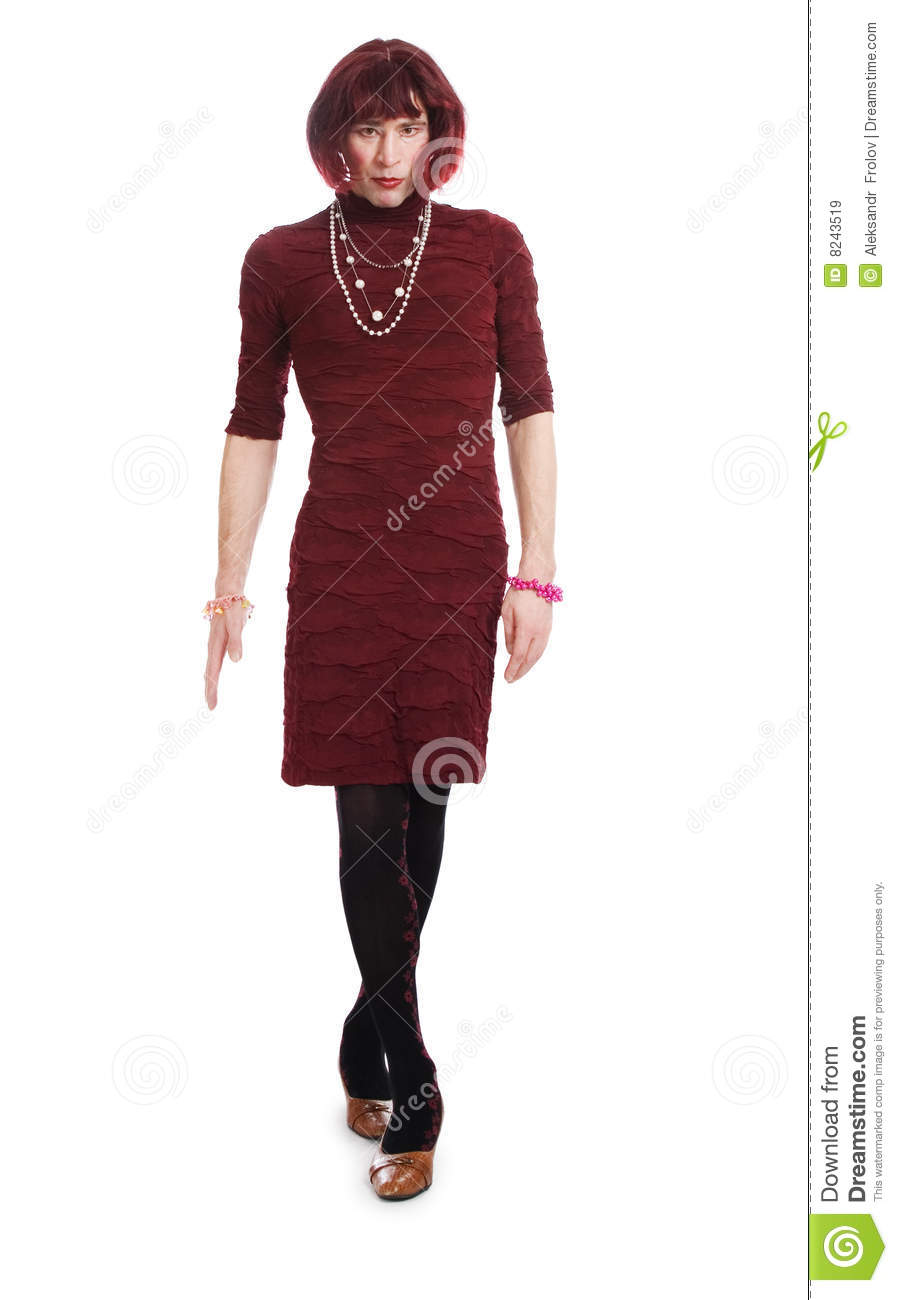 New Portrait Of Drag Queen. Man Dressed As Woman Royalty Free Stock Photos - Image 27665908