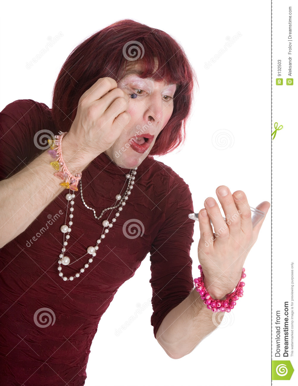 A Man Dressed As A Woman Stock Photos