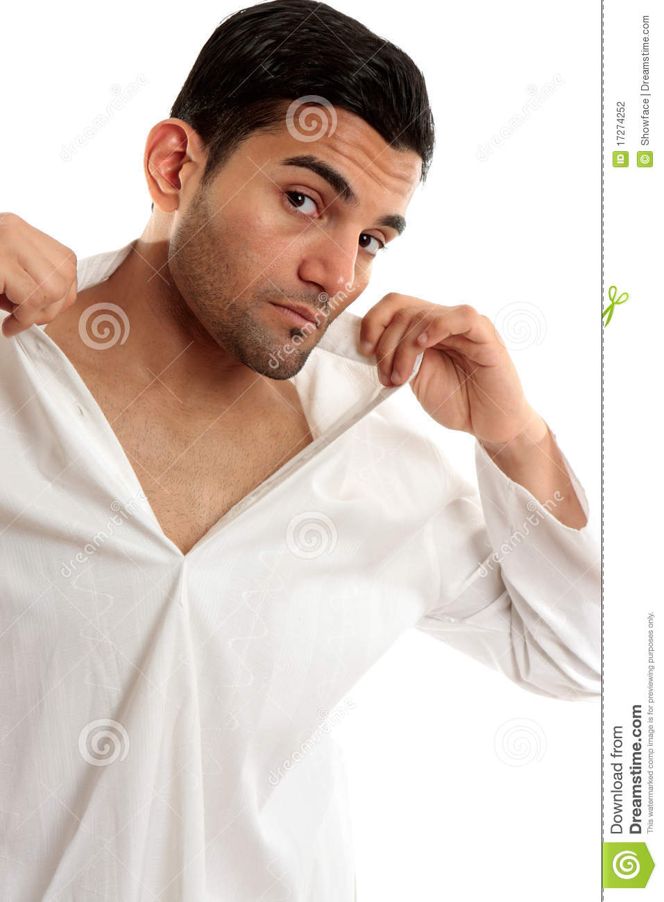 Man Dressing Or Undressing Stock Photography