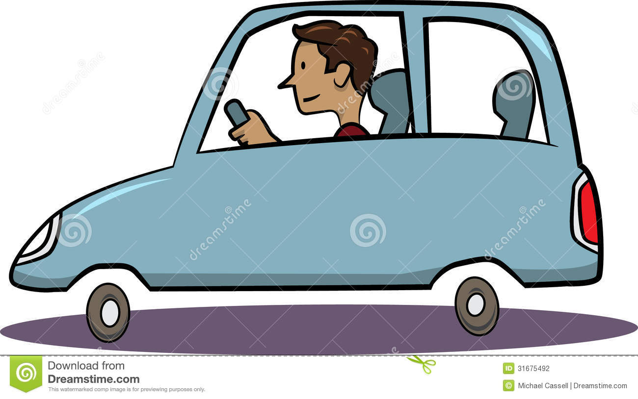 Man Driving Blue Car Stock Photography - Image: 31675492
