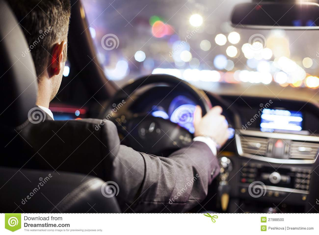 man driving car stock photo image 27988500