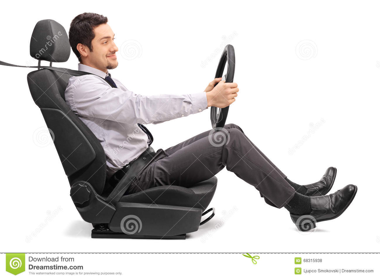 background car driving holding man profile seat ...
